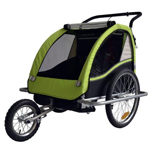 TIGGO Kinderfahrradanhänger Fahrradanhänger Kinder-Fahrrad-Jogger 2in1 602-D02 Farbe: LEMON