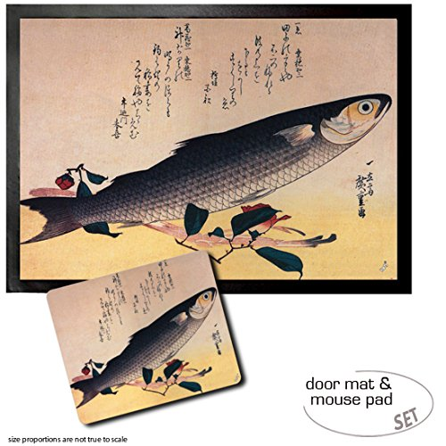 set-1-fumatte-trmatte-70x50-cm-1-mauspad-23x19-cm-ando-hiroshige-graubarbe-und-kamelie-1834-35