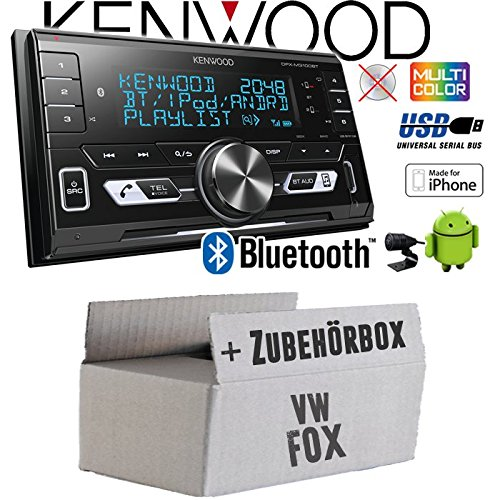 Autoradio Radio Kenwood DPX-M3100BT - 2-DIN Bluetooth USB VarioColor Einbauzubehör - Einbauset für VW Fox - JUST SOUND best choice for caraudio