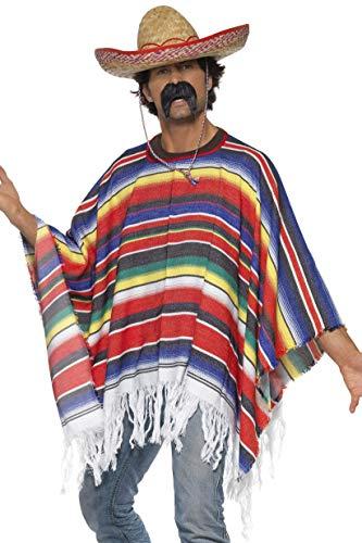 Kostüm Sombrero - Poncho Mehrfarbig, One Size