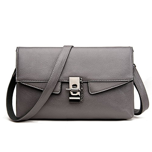 ZPFME Frauen Handtasche Mode Umschlag Tasche Elegant Party Retro Damen Verbot Mode Damen Tasche Handtasche Grey