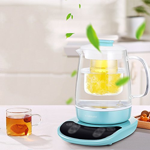 Electric Kettles YANFEI Glass Multifunction 1.5L 800W Blue Home Travel quick boiling