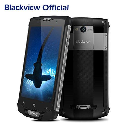 Outdoor Handy, Blackview BV8000 Pro 5.0 Zoll 4G LTE Dual SIM Smartphone Android 7.0 OS MT6757 Octa Core Prozessor 6GB RAM 64GB ROM, IP68 Handy Ohne Vertrag Wasserdichte / Stoßfest / Staubdicht