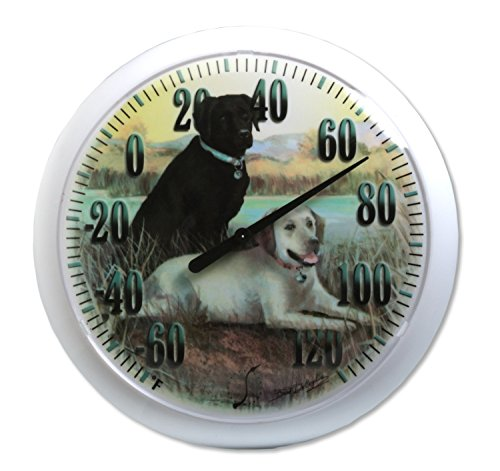 TAYLOR PRECISION PRODUCTS - 13-Inch Labradors Outdoor Thermometer -