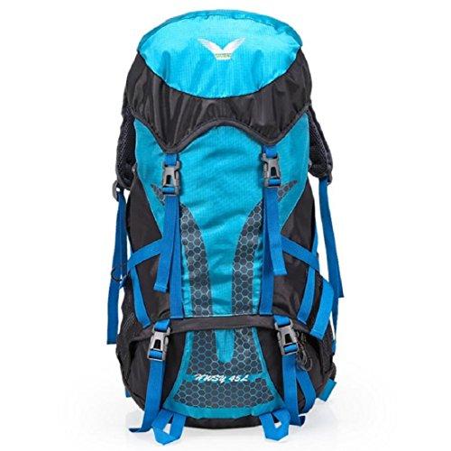 Z&N 45L GroßE KapazitäT Hochwertige Nylon Outdoor Sport Bergsteigen Rucksack Camping Picknick Partei Schultertasche Urlaub GepäCk GüRtel Ultra-Licht Reiten Wander Tasche B