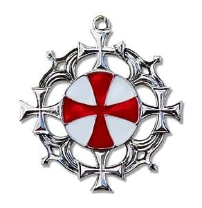 Pendentif Talisman des chevaliers - Templiers - Croix solaire