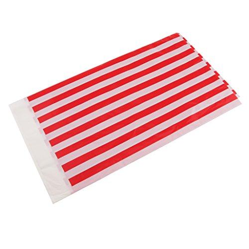 Homyl Plastik Tischdecke Streifen Muster - rot