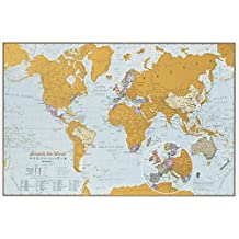 Amazon maps international scratch the world travel edition map print a3 travel sized 420 w gumiabroncs Image collections