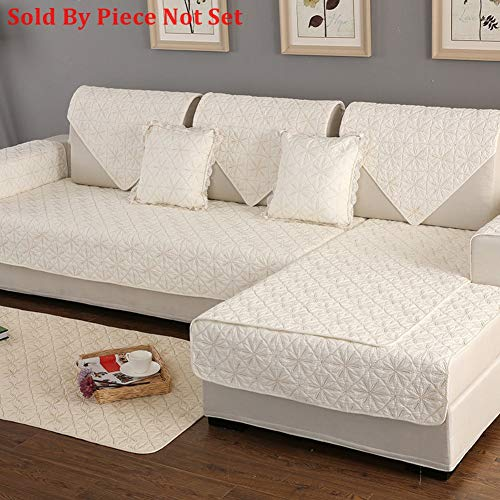Funda para sofá seccional de algodón para Todas Las Estaciones, Antideslizante, Acolchada, para Mascotas, Perro, Funda para sofá en Forma de U, 1 Pieza, C de 28 x 47 Pulgadas (70 x 120 cm)