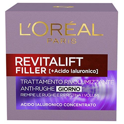 L'Oréal Paris Revitalift Filler Crema Viso Antirughe Rivolumizzante Giorno con Acido Ialuronico...
