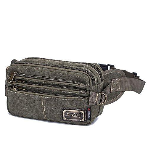 BUSL Escursione Fanny Pack di tela multi-sport borsa Messenger tasche sacchetto della cassa di spalla di svago esterno degli uomini . B C