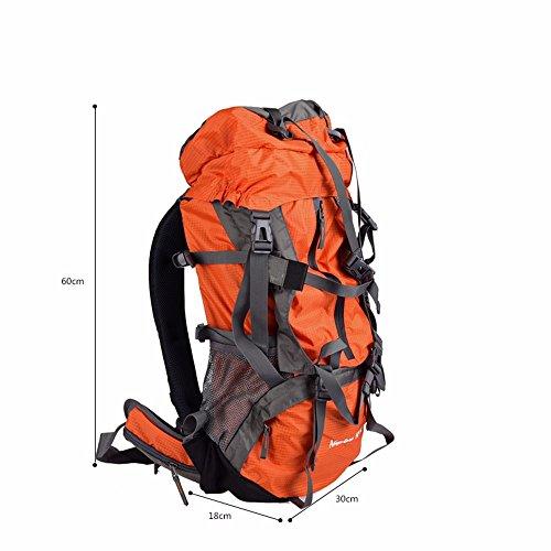 TBB-Escursionismo zaino Borsa Zaino outdoor da viaggio capacità grande borsa da viaggio,arancio 55L green 55L