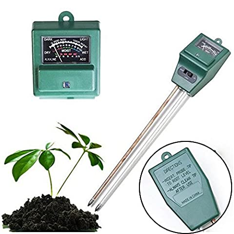 3en 1testeur de pH du sol l'eau l'humidité Mètre moniteur de plante d'intérieur/extérieur humidité hygromètre Capteur de jardin
