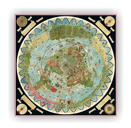 Gleason Flache Erde Karte.Flatearth Tv Urbano Monte Map 1544 1613 Manuscrito Mapa De Pared Del Mundo Milan 1587 Mapa De La Tierra Plana 33 1 X 33 1