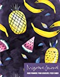 Migraine Journal: Self Care Daily Planner, Pain Tracker and Food Diary - Tropical Pineapple