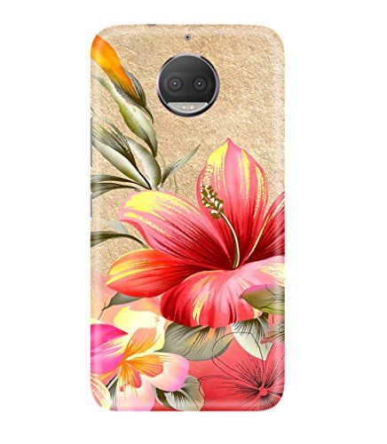 Moto G5s Plus Back Cover designer 3D Hard Mobile Case printed Cover for Motorola moto G5 s plus (August 2017 Launch) by Gismo - Pink Red Flower theme