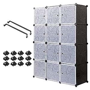 Armadio Armadietto Guardaroba Organizzatore Armadio Pieghevole Scaffale Scapiera a cubo, Armadio impermeabile Armadio idrorepellente Mobiletto, abbigliamento Stoccaggio Cubo con nodo magnete giocattol