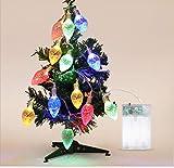 Le luci trasparenti del cono del pino hanno condotto la piccola sezione 1.2m10 della fragola della sezione della batteria della decorazione della barra di Natale