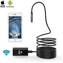 WiFi endoscopio Pancellent Wireless boroscopio 2.0 Mega Pixeles HD inspección cámara rígida serpiente Cable (2 mediciones) para IOS iPhone Samsung Smartphone Android