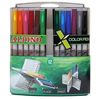 Alpino AR000135 – Estuche de 12 rotuladores, colores surtidos