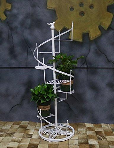XIAOLIN- 1.2 metros de altura Hierro Bastidores de flores estilo europeo Estilo de piso Escalera de caracol Bastidores de flores Múltiples capas Estantería de Bonsai --Marco de acabado de flores