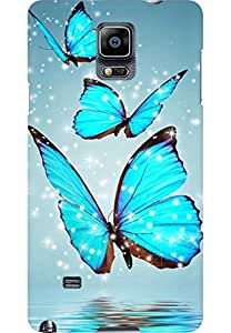 AMEZ designer printed 3d premium high quality back case cover for Samsung Galaxy Note 4 (butterfly)