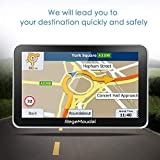 Sat Nav, RegeMoudal Car GPS 7 Inch Touch Screen GPS Navigation for Car System 8G Memory Truck Navigator Multimedia Pre-installed UK and EU Maps, Free Lifetime Updates