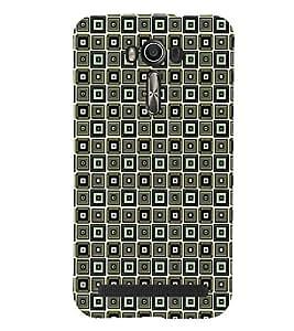 Printvisa Premium Back Cover Grey Black Illusion Check Pattern Design For Asus Zenfone 2 Laser ZE550KL::Asus Zenfone 2 Laser ZE550KL (5.5 Inches)