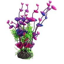 """Laat planta acuática artificial Decoration para Acuario Pecera de peces, plástico, e, (environ) 21 x 4 cm/ 8"""" x 1,5"""""""