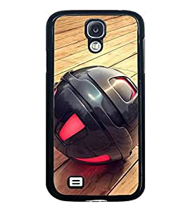 Fuson Designer Back Case Cover for Samsung Galaxy S5 :: Samsung Galaxy S5 G900I :: Samsung Galaxy S5 G900A G900F G900I G900M G900T G900W8 G900K (Black Ball Red And Black Wood Floor Unique Different)