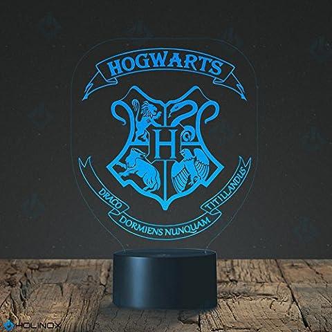 Harry Potter Hogwarts, Poudlard Harry Potter Lampe gadget décor, meilleur cadeau pour Noël, veilleuse décorative, mode de 7 couleurs, superbes cadeaux