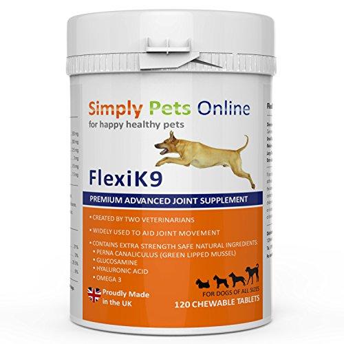 Gelenk Ergänzungsfutter für Hunde | Gegen Arthritisschmerzen, Hüftprobleme, Rheuma, Arthrose & Bewegungsprobleme | Gelenkschutz für Ihren Hund |120 Extra Starke & Kaubare Gelenketabletten