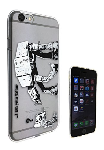 Banksy Grafitti Art c0070 Star Wars Robot iphone 5/5S Fashion Trend Coque en Gel de Silicone Housse étui de protection Transparent
