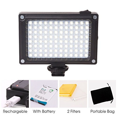 Rechargeble 96 LED Video Light,U...
