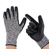 Schnittschutzhandschuhe Arbeitshandschuhe Handschutz Küchenhandschuhe von ZAPO(2 Paar Größe L)