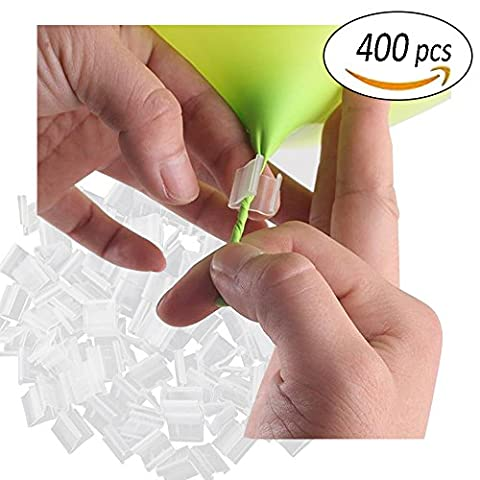 REKYO 400 Pieces Balloon clip the V shape balloon mouth clamp Balloon closure to prevent leakage for sealing (400