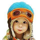 Yuson Girl Sciarpa e Berretto Bambina Berretto Pilota Bambini Invernale Caldo Cappello con Orecchie per Cappelli da Bambino 2-6 Anni