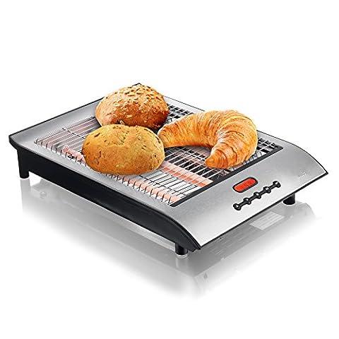 KHAPP - Toaster Plat avec Ramasse Miettes Grille-Pain Très Pratique - 36x 26x 7cm