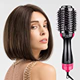 Comb per asciugacapelli e spazzola per aria calda, QARFEE Spazzola per capelli 4...
