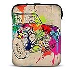 MySleeveDesign Custodia in neoprene per tablet e iPad 7 - 7,9 pollici / 10 - 10,1 pollici - DIVERSE FANTASIE - Colored Car [7]