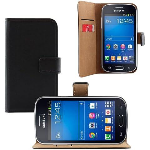 Samsung Galaxy Fresh Book Style - iProtect funda protectora en similcuero tipo billetera con función soporte negro