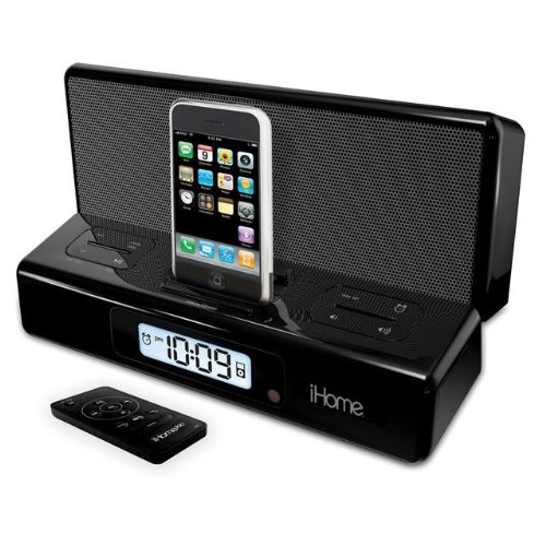 iHome IP27 Black - Portable Travel Alarm Clock For iPhone & iPod With Remote ... Ihome Ipod Docking