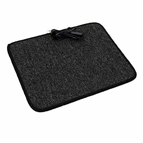 Heizteppich 40x50cm Anthrazit beheizbarer Teppich Schreibtischheizung Fußwärmer Infrarot Heizmatte
