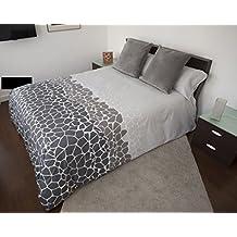 Funda Nordica CANTERA GRIS Reversible Cama de 105 ( 180X260cm)+ 1 FUNDA DE ALMOHADA (45X125cm) + sábana bajera ajustable 105 x 190/200 cm - 50%ALGODÓN - 50% POLIÉSTER. Disponible para cama de 90, 105, 135 y 150.