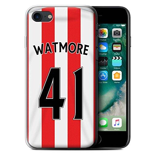 Offiziell Sunderland AFC Hülle / Gel TPU Case für Apple iPhone 7 / Matthews Muster / SAFC Trikot Home 15/16 Kollektion Watmore