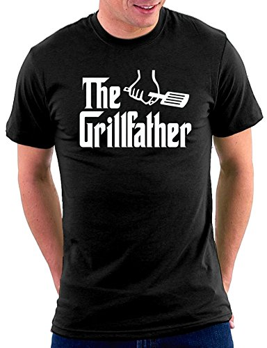 The Grillfather T-shirt Schwarz