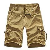MOIKA Herren Shorts, Kurze Hosen Herren Sommer Camouflage Hose Männer Cargo Shorts Baumwolle Regular Fit Freizeithose Kurz Arbeitshosen Sport Hose Outdoor Sommerhose