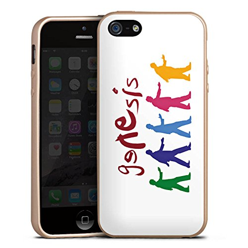 Apple iPhone 5s Hülle Silikon Case Schutz Cover Genesis Phil Collins Rock Silikon Case gold