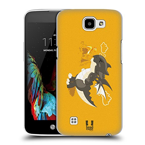 Head Case Designs Brace Piccoli Dragoni Cover Retro Rigida per LG K4