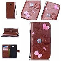 Casefirst Sony Xperia M2 Case, Sony Xperia M2 Accessories Folio Flip Cover Defender Cover Case Slim Shell for Sony Xperia M2 (Brown)